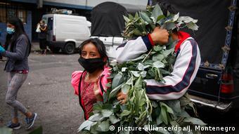 Ecuador Coronapandemie Mundschutz auf der Straße (picture-alliance/dpa/J. Montenegro)