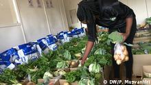 Simbabwe Harare Gemüsemarkt während Coronakrise