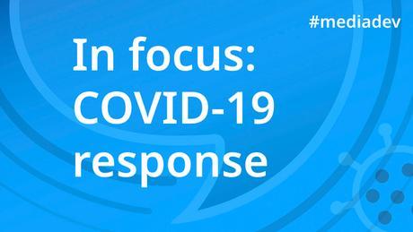 DW Akademie Banner In focus: COVID-19 response