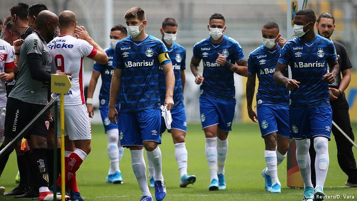 Brasilien Fußball   Coronavirus   Gremio vs. Sao Luiz