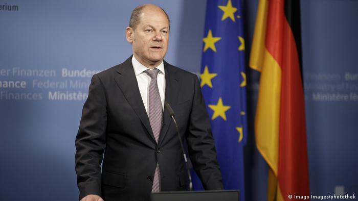 Deutschland Berlin | Videokonferenz Eurogruppe | Olaf Scholz, Finanzminister (Imago Images/photothek)