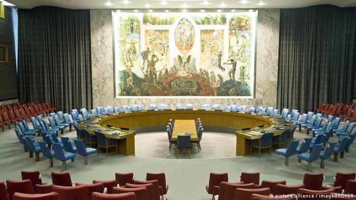 USA | Leerer Saal des UN-Sicherheitsrat (picture-alliance / imageBROKER)