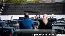 Deutschland Coronavirus Ostergottesdienste im Autokino