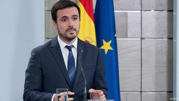 Spaniens Verbraucherschutzminister Alberto Garzon (AFP)