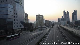 Пустые улицы в Стамбуле