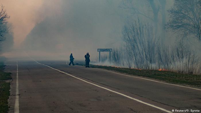 Ukraine Waldbrände bei Tschernobyl (Reuters/O. Syrota)