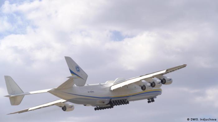 Політ літака Ан-225 Мрія