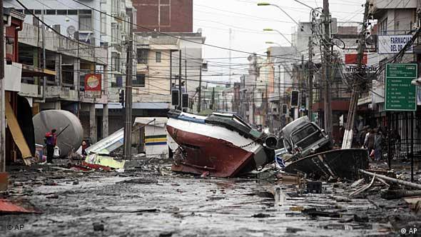 Straße in Talcahuano (Foto: AP)