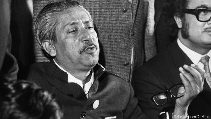 8th January 1972: Sheikh Mujibur Rahman the Bangladesh leader in London at a press conference after he had been released by president Yahya Khan in Pakistan