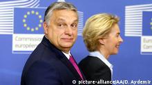 Belgien Viktor Orban und Ursula von der Leyen (picture-alliance/AA/D. Aydemir)