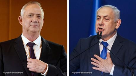 Bildkombo Benny Gantz und Benjamin Netanjahu Israel