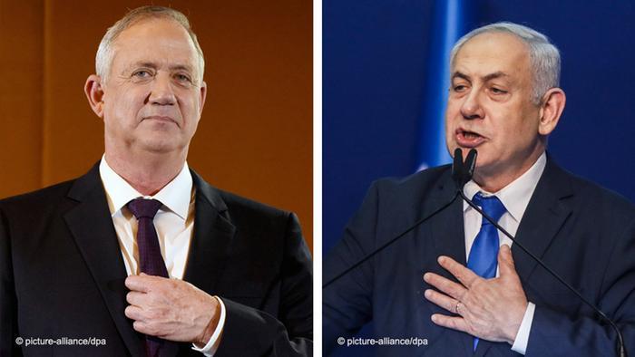 Бені Ганц та Біньямін Нетаньяху