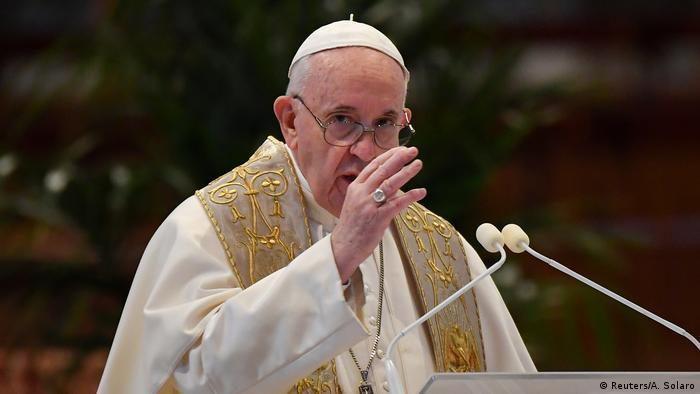 El papa Francisco celebró la misa del Domingo de Resurrección y dio su mensaje Urbi et Orbi a un mundo sumido en la crisis del coronavirus. (12.04.2020).