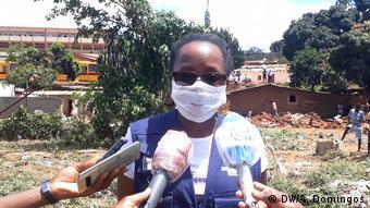 Zerstörte Häuser in Angola Luanda