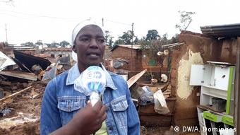 Zerstörte Häuser in Angola Luanda (DW/A. Domingos)