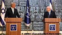 Israel Jerusalem | Benny Gantz, Blau-Weiß & Reuven Rivlin, Staatspräsident