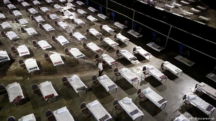 Indien Mumbai | Coronavirus: Leere Betten (Reuters/F. Mascarenhas)