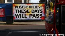 11.04.2020 *** LONDON, ENGLAND - APRIL 11: A sign in Hackney is displayed on April 11, 2020 in London, England. The Coronavirus (COVID-19) pandemic has spread to many countries across the world, claiming over 100,000 lives and infecting over 1. 7 million people. (Photo by Julian Finney/Getty Images)