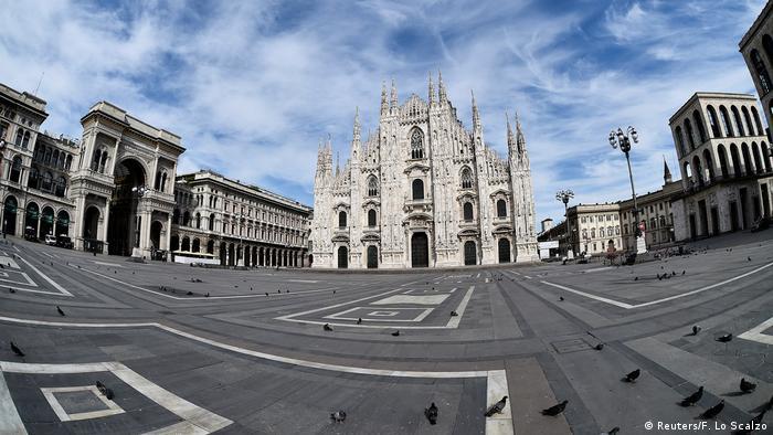 Italien Mailand   Coronavirus   Ostersonntag, Mailänder Dom (Reuters/F. Lo Scalzo)