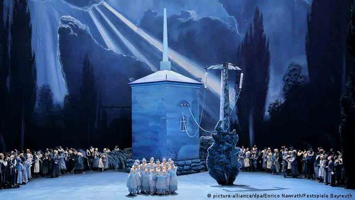 Scene from Wagner's 'Lohengrin' at the 2018 Bayreuth Festival.
