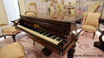 A piano on show at the Chopin Museum in Warsaw