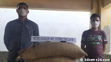 Coronavirus Bangladesch Joypurhat illegal verkaufter Reis aus Hilfslieferung des Regierung