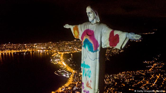 Brasilien Rio de Janeiro Christus der Erlöser Jesus Statue