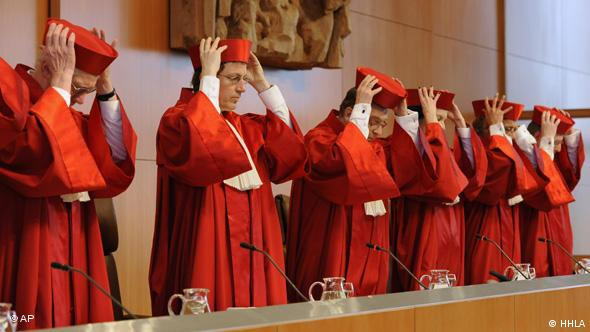 Judges of German Constitutional Court (Photo: Winfried Rothermel)