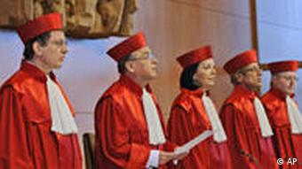 Die Richter des Bundesverfassungerichts (Foto: apn)