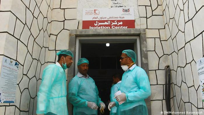 Personal médico en Yemen.
