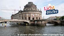 (190518) -- BEIJING, May 18, 2019 (Xinhua) -- Photo taken on May 17, 2019 shows a view of the Bode Museum at Museum Island in Berlin, capital of Germany. Museum Island, a UNESCO world heritage site, is the northern part of an island in the Spree river in Berlin. Its name comes from the complex of worldwide famous museums such as Altes Museum (Old Museum), Neues Museum (New Museum), Alte Nationalgalerie (Old National Gallery), Bode Museum and Pergamon Museum. May 18 marks the International Museum Day. (Xinhua/Shan Yuqi) | Keine Weitergabe an Wiederverkäufer.