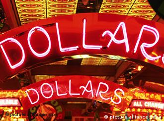 Bright red sign reading DOLLAR