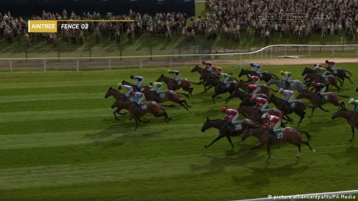UK Corona-Pandemie - vituelles Pferderennen