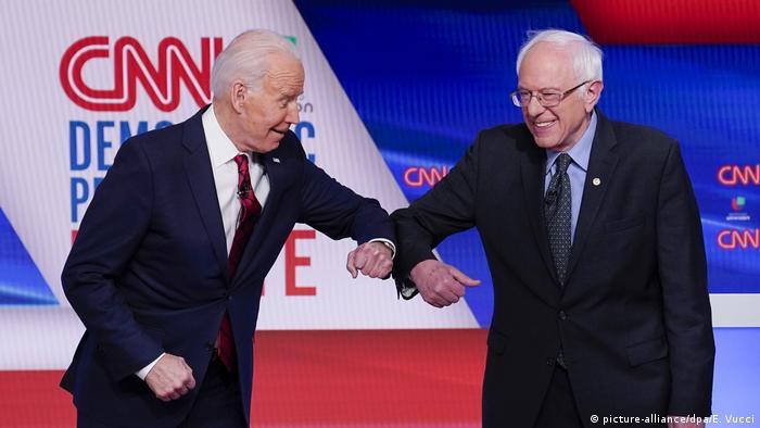 پشتیبانی سندرز از بایدن در کارزار انتخابات آمریکا