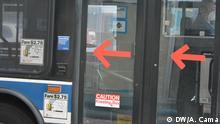 USA New York Bus Busfahrer Corona-Krise