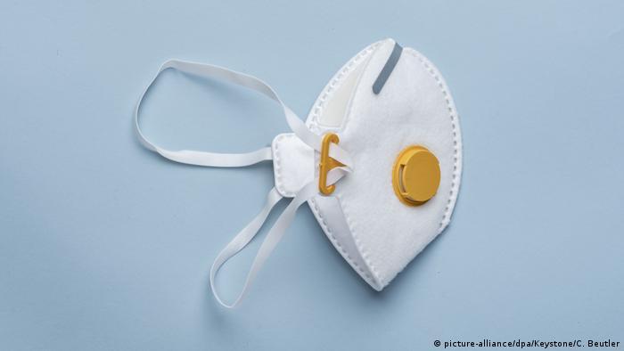 Atemschutzmaske der Kategorie FFP3 (picture-alliance/dpa/Keystone/C. Beutler)