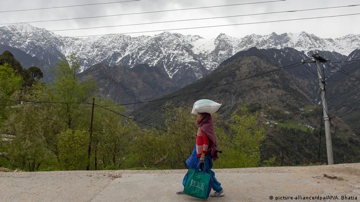 Indien Dharmsala Himalaya ohne Luftverschmutzung