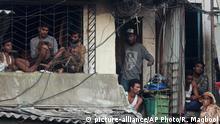 Indien Coronavirus Slums