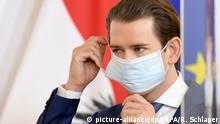 Österreich Coronavirus Sebastian Kurz (picture-alliance/dpa/APA/R. Schlager)