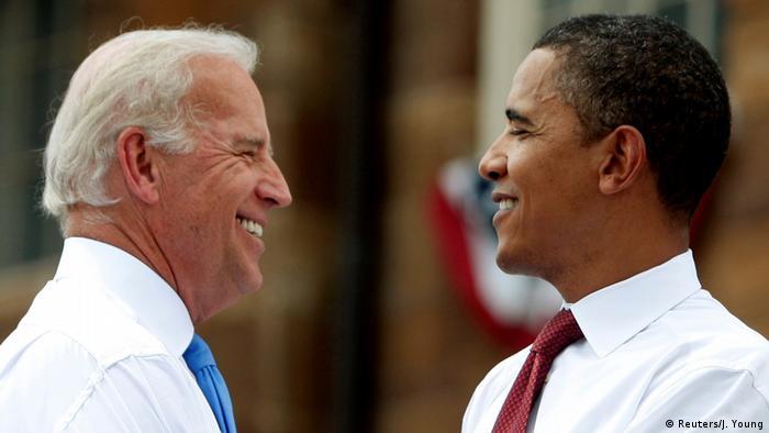 جو بایدن و باراک اوباما در اوت سال ۲۰۰۸
