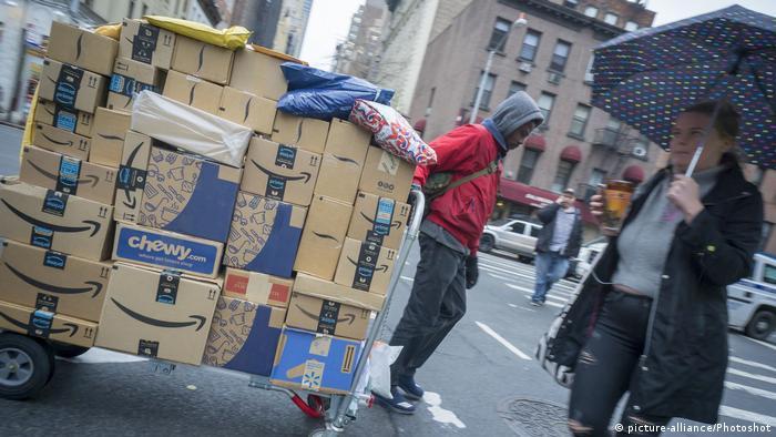USA Lieferungen von Onlinebestellungen in New York