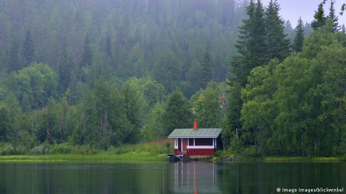 Sommerhäuschen am See in Finnland