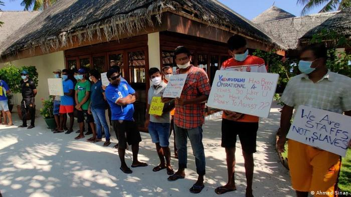 A significant number of resort workers are migrants from South and Southeast Asia