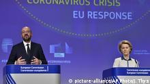 EU-PK zur Coronakrise mit Ursula von der Leyen und Charles Michel