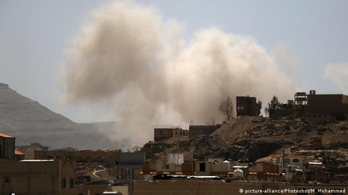 Jemen Corona-Pandemie   Luftschlag auf Sanaa (picture-alliance/Photoshot/M. Mohammed)