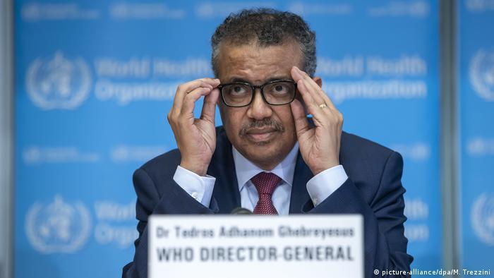 مدير منظمة الصحة العالمية تيدروس أدهانوم غيبريسوس