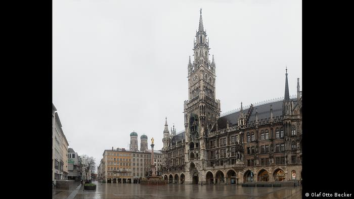 Marienplatz ohne Menschen, Fotografien von Olaf Otto Becker (Olaf Otto Becker)