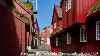 Пустые улицы в Торсхавне на Фарерских островах