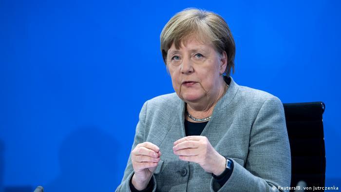 Deutschland PK Merkel Corona (Reuters/B. von Jutrczenka)
