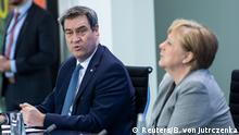 Deutschland PK Merkel zur Corona-Pandemie | Markus Söder